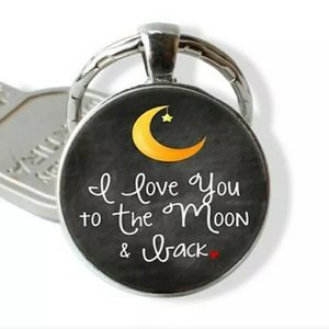 I Love You to the Moon & Back Cabochon Keychain
